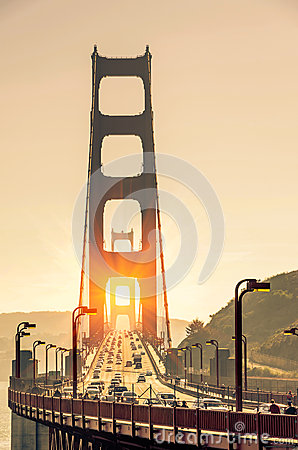 Free Golden Gate Bridge - San Francisco At Sunset Royalty Free Stock Photography - 36687987