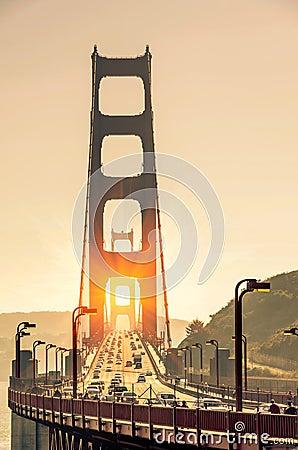 Free Golden Gate Bridge - San Francisco At Sunset Royalty Free Stock Photography - 36687987