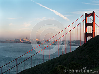 Golden Gate Bridge with San Francisco background