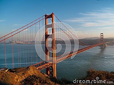 Golden Gate Bridge with San Francisco background