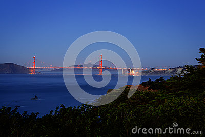 Golden Gate Bridge in San Francisco California at Night