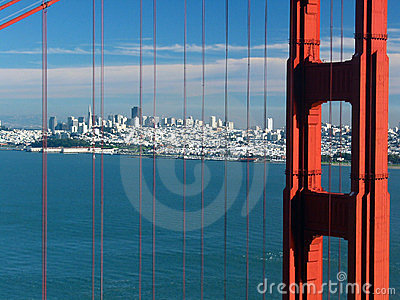 Golden Gate bridge. San Francisco. California. USA