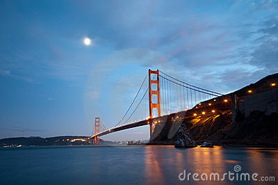 Golden Gate Bridge, San Francisco at dusk