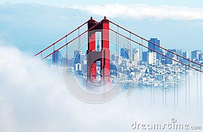 Golden Gate Bridge and SF