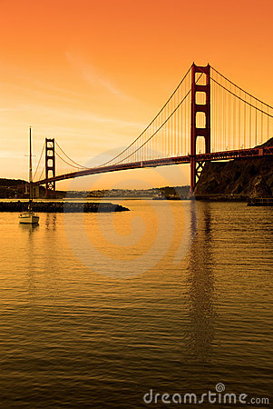 Golden Gate Bridge, SF sunset
