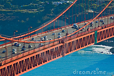 Golden Gate Bridge Traffic Royalty Free Stock Images - Image: 381829