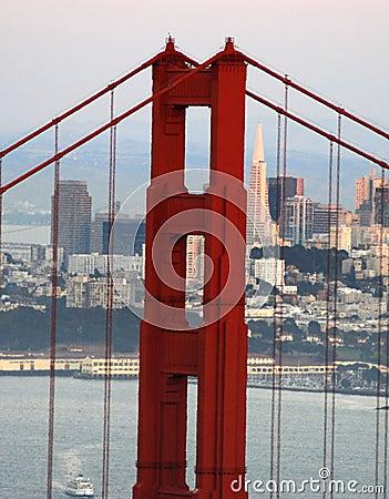 Golden Gate Bridge and Transamerica Pyramid