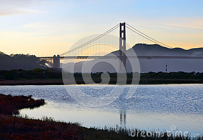 The Golden Gate Bridge and Wetlands at Crissy Field