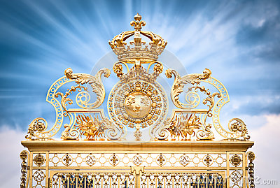 Golden gate Chateau Versailles.