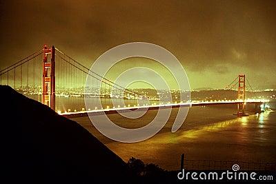 Golden Gate Glow Stock Photo