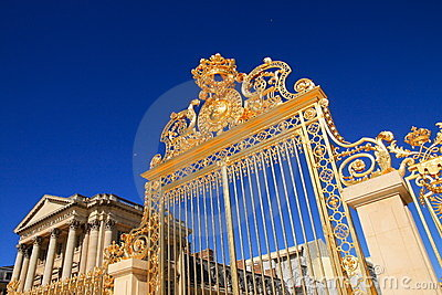 Golden gate of Versailles Palace