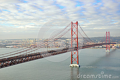 Golden gates bridge in Lisbon