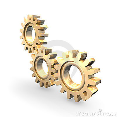 Free Golden Gears Stock Images - 12303064