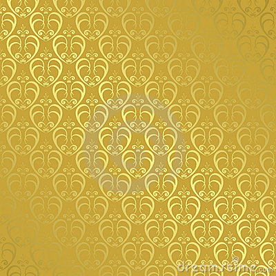 Golden geometric pattern with gradient - vector