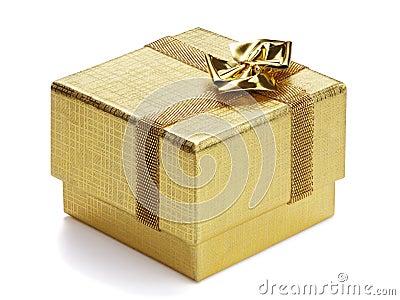 Golden gift box.