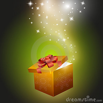 Free Golden Gift Box Abstract Background Stock Photos - 17055313