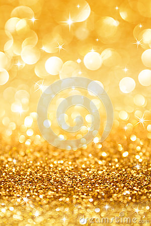 Free Golden Glitter And Stars For Christmas Background Royalty Free Stock Images - 35103269