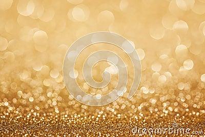 Golden glitter christmas background
