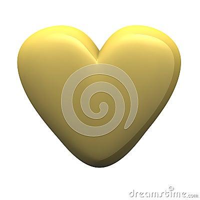 Golden glossy heart