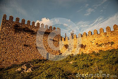 Castle walls of old Spain