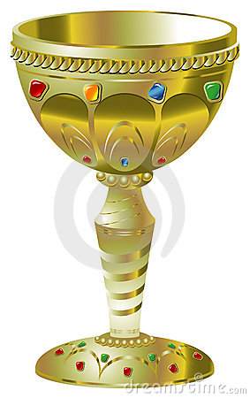 Golden goblet with precious stones