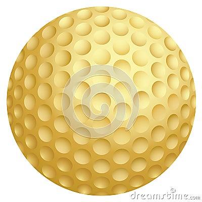 Golden golf ball
