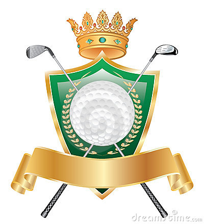 Free Golden Golf Crown Stock Image - 9866781