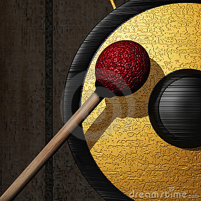 Free Golden Gong 4 Buddha Stock Photography - 19947552