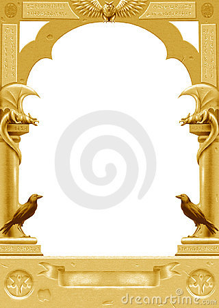 Golden gothic frame