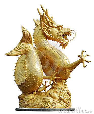 Golden gragon statue