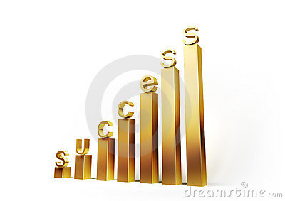 Golden Graph with Letters Of Success