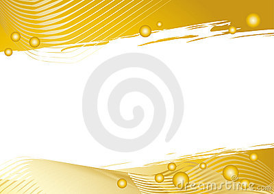 Golden graphical background with white area