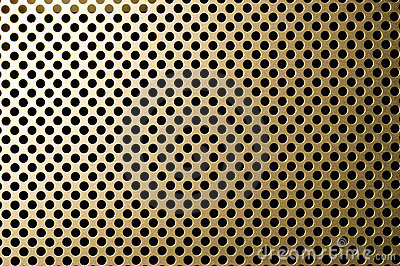 Golden grille surface