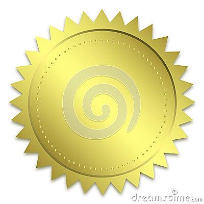 Golden guarantee seal