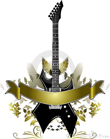 Golden Guitar Banner