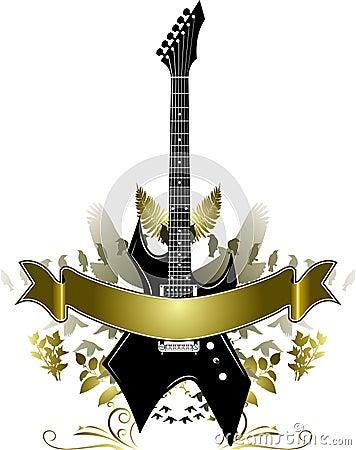 Golden Guitar Banner