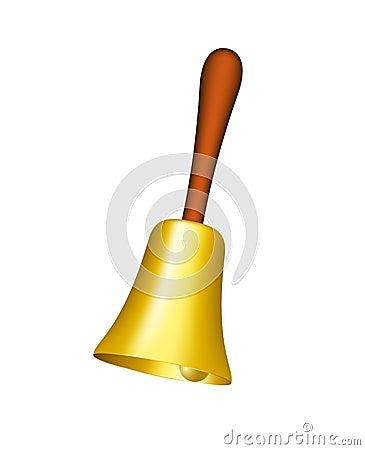 Golden hand bell