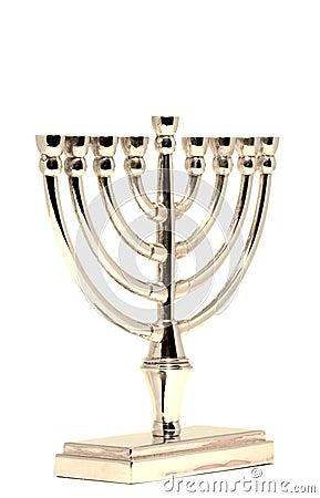 Golden Hannukah Menorah