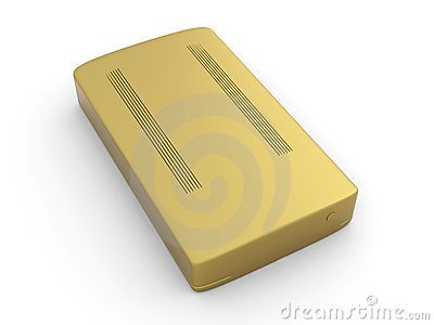 Golden Hard Drive