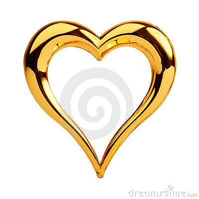 Free Golden Heart Royalty Free Stock Photo - 16054275