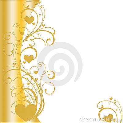 Free Golden Heart Border Vector Royalty Free Stock Image - 12873026