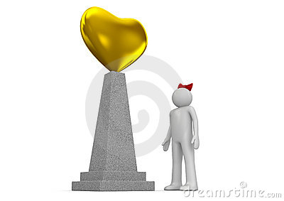 Golden heart monument