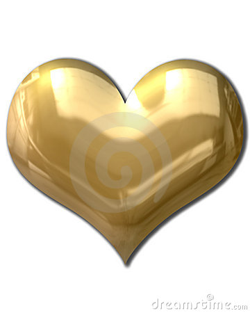 Golden Heart Puffy