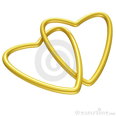 Free Golden Hearts Royalty Free Stock Images - 6529149