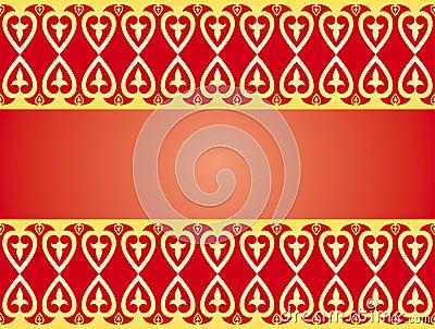 Golden hearts ornament