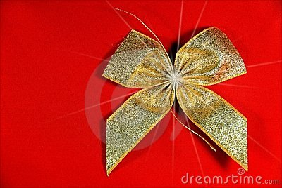 Golden Holiday ribbon