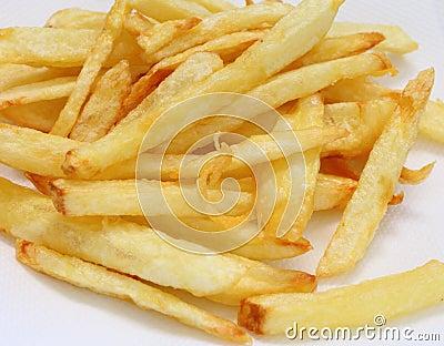 Golden homemade fries