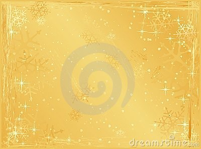 Golden horizontal grunge christmas background