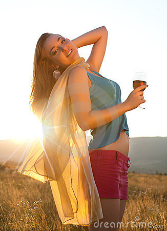 Golden hour and wine
