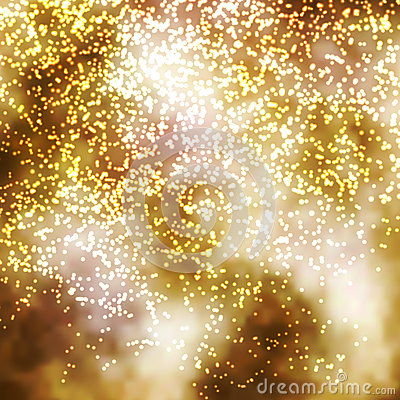 Free Golden Incandescent Glittering Particle Background Illustration Royalty Free Stock Photography - 60836927